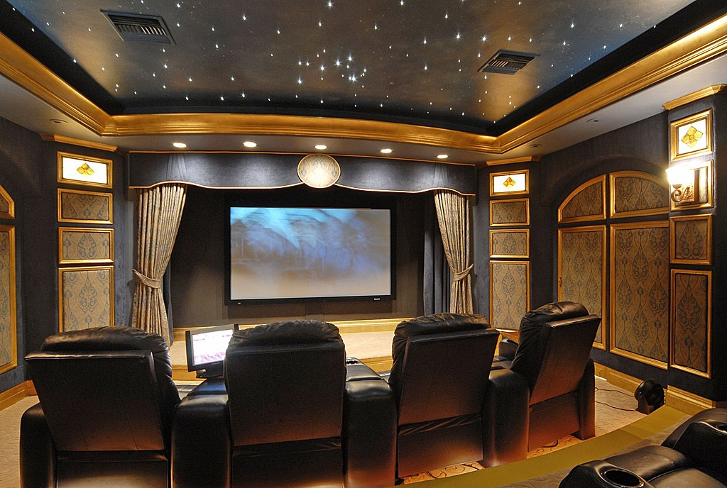 how to create the perfect home theater system a1 electrical. Black Bedroom Furniture Sets. Home Design Ideas
