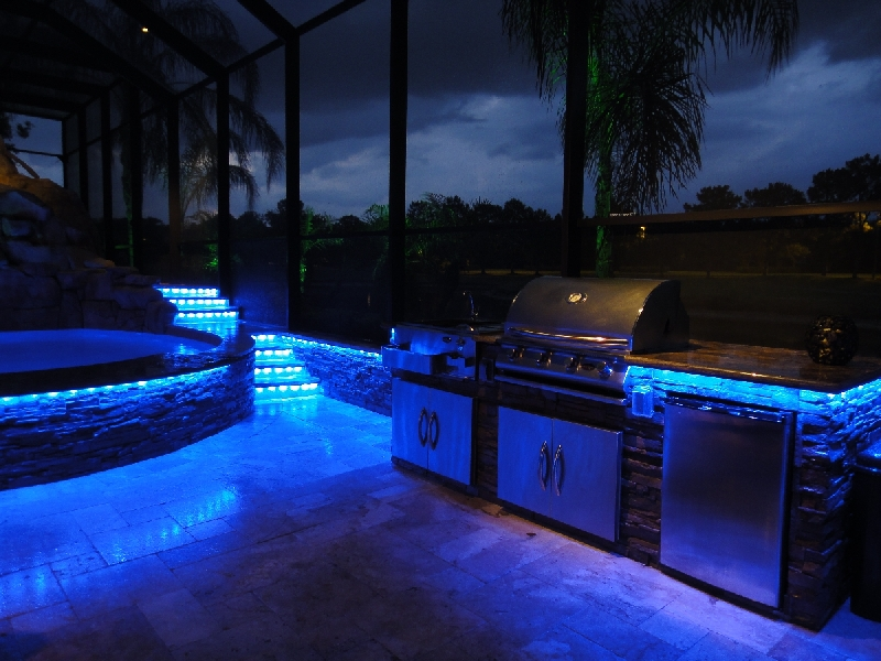 Lighting for your outdoor kitchen a1 electrical for Creative pool design jobs