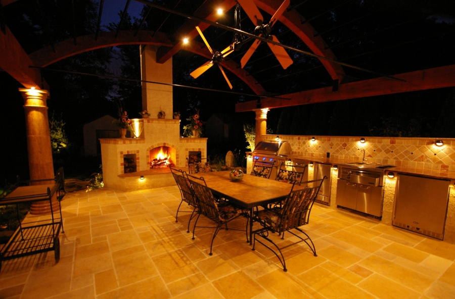 Lighting for your outdoor kitchen a1 electrical d41d8cd98f00b204e9800998ecf8427eimage copy aloadofball Choice Image